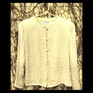 Armani Beaded Evening Blouse made in Italy